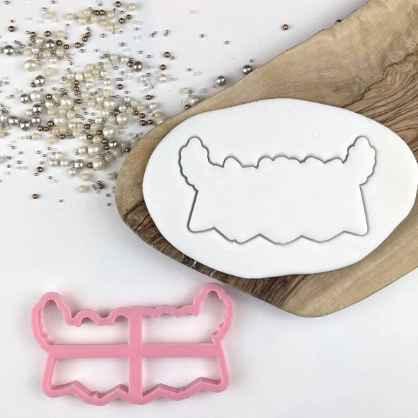 Floral Bunting Wedding Cookie Cutter