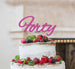 Forty Birthday Cake Topper 40th Glitter Card Hot Pink