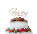 Forty Birthday Cake Topper 40th Glitter Card White