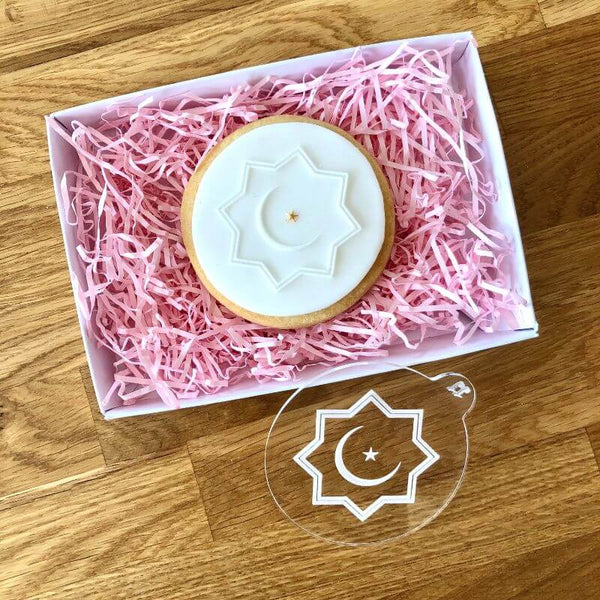 Geometric Moon And Star Cookie Embosser