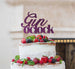 Gin O'Clock Cake Topper Cake Topper Glitter Card Dark Purple
