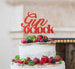 Gin O'Clock Cake Topper Cake Topper Glitter Card Red