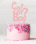 Girl or Boy Baby Shower Cake Topper Acrylic Baby Pink