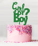 Girl or Boy Baby Shower Cake Topper Acrylic Green