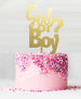 Girl or Boy Acrylic Cake Topper Mirror Gold