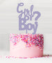 Girl or Boy Baby Shower Cake Topper Acrylic Parma Violet