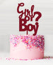 Girl or Boy Baby Shower Cake Topper Acrylic Red