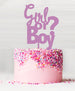 Girl or Boy Baby Shower Cake Topper Acrylic Sour Grape