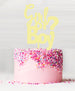 Girl or Boy Baby Shower Cake Topper Acrylic Yellow Lemon Sorbet