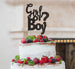 Girl or Boy? Baby Shower Cake Topper Glitter Card Black