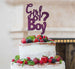 Girl or Boy? Baby Shower Cake Topper Glitter Card Dark Purple