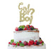 Girl or Boy? Baby Shower Cake Topper Glitter Card Gold