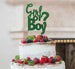 Girl or Boy? Baby Shower Cake Topper Glitter Card Green
