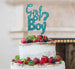 Girl or Boy? Baby Shower Cake Topper Glitter Card Light Blue