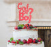 Girl or Boy? Baby Shower Cake Topper Glitter Card Light Pink