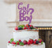 Girl or Boy? Baby Shower Cake Topper Glitter Card Light Purple