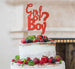 Girl or Boy? Baby Shower Cake Topper Glitter Card Red