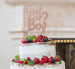 Girl or Boy? Baby Shower Cake Topper Glitter Card Rose Gold