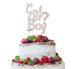 Girl or Boy? Baby Shower Cake Topper Glitter Card White
