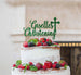 Bespoke Name Christening Pretty Font Cake Topper Green