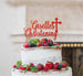 Bespoke Name Christening Pretty Font Cake Topper Red