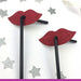 Lip Glitter Party Straws Dark Pink