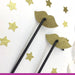 Lip Glitter Party Straws Gold