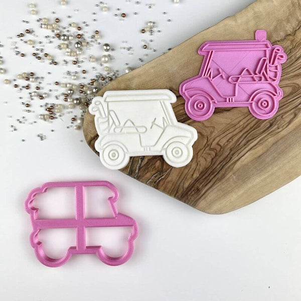 Golf Cart Father's Day Cookie Cutter and Stamp