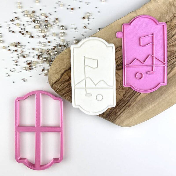 Golf Flag Father's Day Cookie Cutter and Stamp