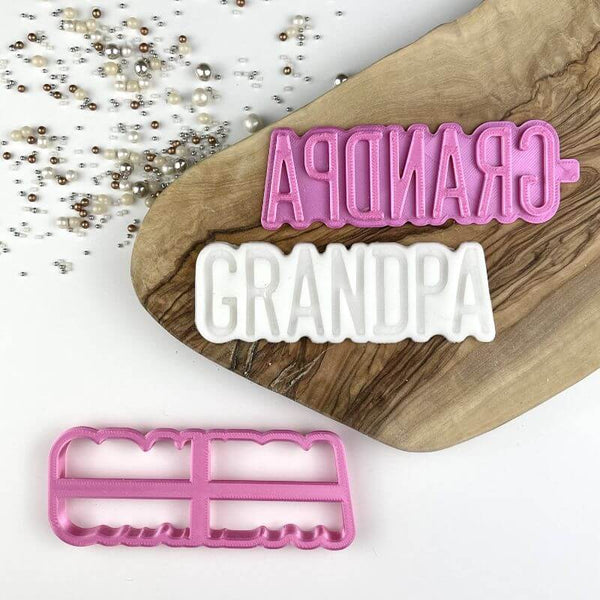 Grandpa Father's Day Cookie Cutter and Stamp