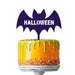 Halloween Bat Acrylic Cake Topper Premium 3mm Acrylic Black