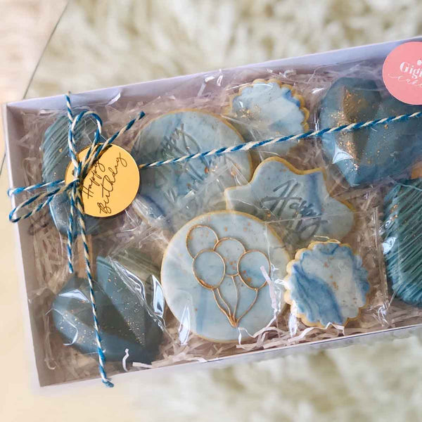 Happy Birthday Circle Cookie Box Tags Pack of 4