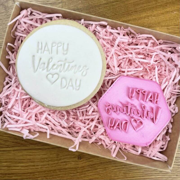 Happy Valentine's Day Style 2 Cookie Stamp