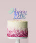 Happy 12th Cake Topper Mirror Card Iridescent