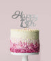 Happy 13th Cake Topper Mirror Card Silver