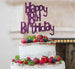 Happy 18th Birthday Cake Topper Glitter Card Dark Purple