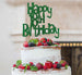 Happy 18th Birthday Cake Topper Glitter Card Green