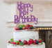 Happy 18th Birthday Cake Topper Glitter Card Light Purple