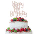 Happy 18th Birthday Cake Topper Glitter Card White