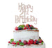 Happy 21st Birthday Cake Topper Glitter Card White