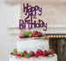 Happy 21st Birthday Cake Topper Glitter Card Dark Purple