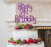 Happy 21st Birthday Cake Topper Glitter Card Light Purple