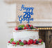 Bespoke Happy Birthday Number and Name Pretty Font Cake Topper Dark Blue