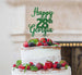 Bespoke Happy Birthday Number and Name Pretty Font Cake Topper Green