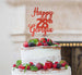 Bespoke Happy Birthday Number and Name Pretty Font Cake Topper Red
