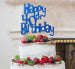 Happy 40th Birthday Cake Topper Glitter Card Dark Blue