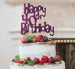 Happy 40th Birthday Cake Topper Glitter Card Dark Purple