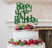 Happy 40th Birthday Cake Topper Glitter Card Green