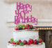 Happy 40th Birthday Cake Topper Glitter Card Hot Pink