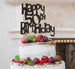 Happy 50th Birthday Cake Topper Glitter Card Black